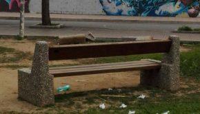 panchina devastata