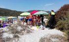 Cala Pira, multe da 200 euro per gli ombrelloni sulle dune (che però non sono delimitate)